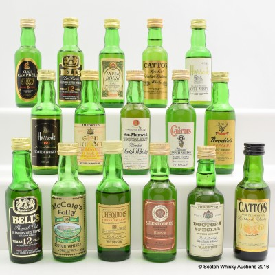 Assorted Minis 16 x 5cl Including Inver House Green Plaid 5cl