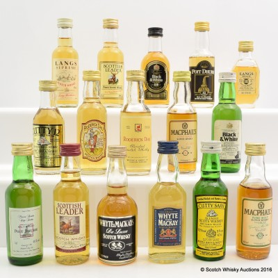 Assorted Minis 16 x 5cl Including Macphail's 10 Year Old 5cl