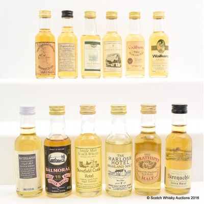 Assorted Minis 12 x 5cl Including Balmoral 15 Year Old 5cl
