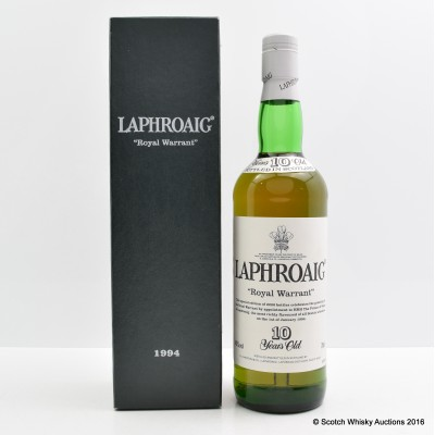 Laphroaig 1994 10 Year Old Royal Warrant With Letter