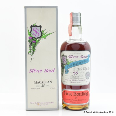 Macallan 1976 25 Year Old Silver Seal First Bottling