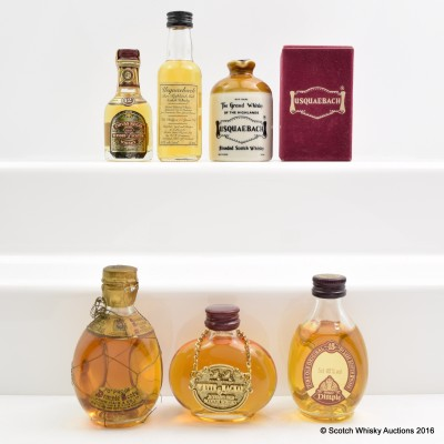 Assorted Minis 6 x 5cl Including Chivas Regal 12 Year Old 5cl