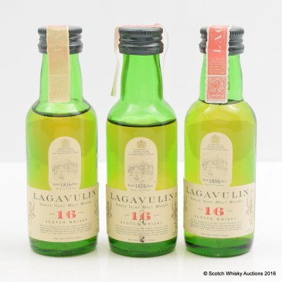 Lagavulin 16 Year Old White Horse Bottling Minis 3 x 5cl