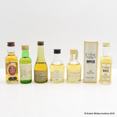 Assorted Miins 6 x 5cl Including Talisker 10 Year Old 5cl