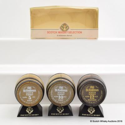 Old St Andrews Scotch Whisky Barrel Selection 3 x 5cl