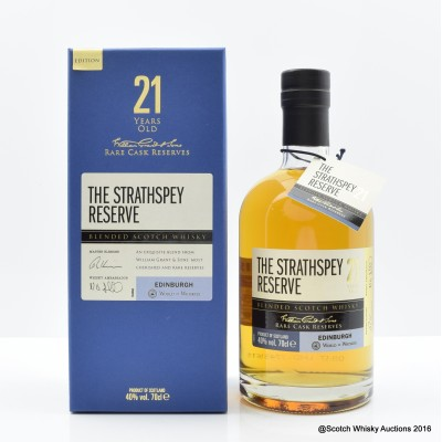 The Strathspey Reserve 21 Year Old Blend