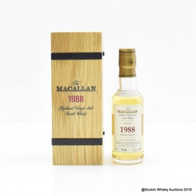 Macallan 1988 23 Year Old Fine & Rare Mini 5cl