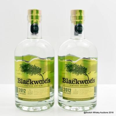 Blackwoods 2012 Superior Vintage Dry Gin 2 x 70cl