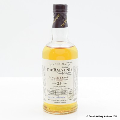 Balvenie 25 Year Old Single barrel 20cl