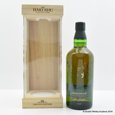 Hakushu 18 Year Old Limited Edition Display Case