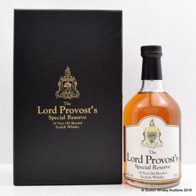 Lord Provost's 18 Year Old Special Reserve