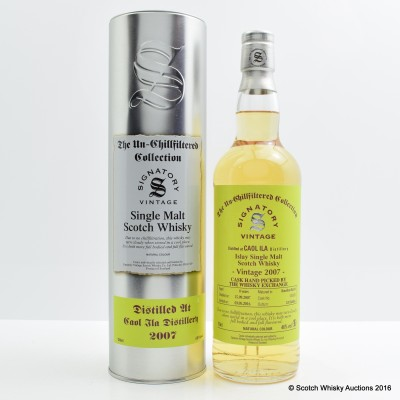 Caol Ila 2007 8 Year Old Signatory for The Whisky Exchange