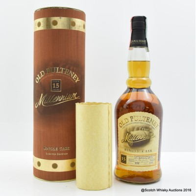 Old Pulteney 1982 15 Year Old Single Cask Millennium Edition