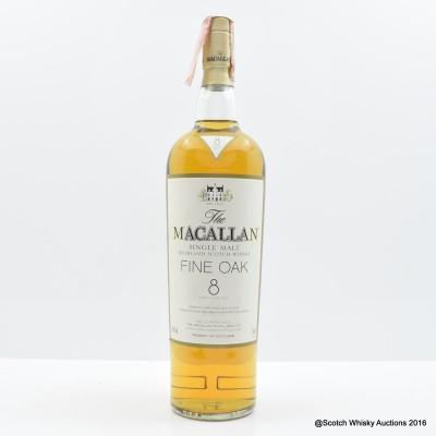 Macallan 8 Year Old Fine Oak 1L
