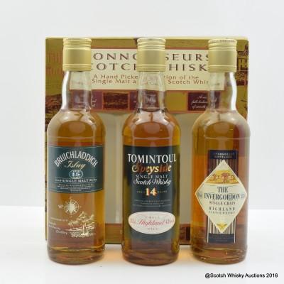 Connoisseurs Scotch Whisky Collection 3 x 33.3cl