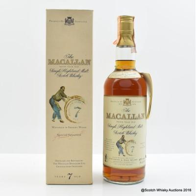 Macallan 7 Year Old Giovinetti & Figli Import 75cl