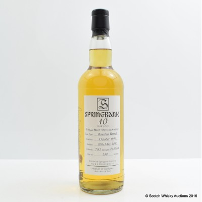 Springbank 1999 10 Year Old Open Day Bottling