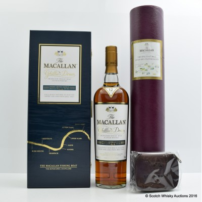 Macallan Ghillie's Dram With Flies & Print