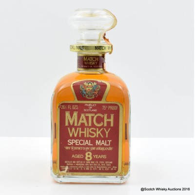 Match Whisky 8 Year Old 26 1/2 Fl Oz