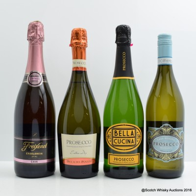 Assorted Sparkling Wines 4 x 75cl
