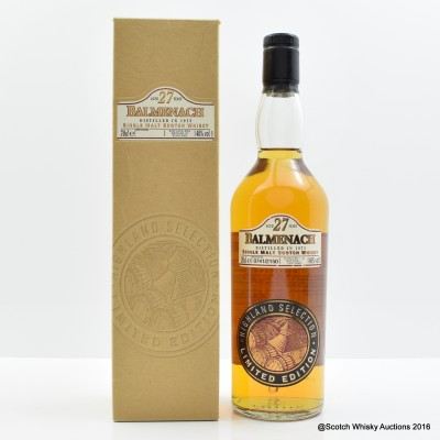 Balmenach 1973 27 Year Old Highland Selection