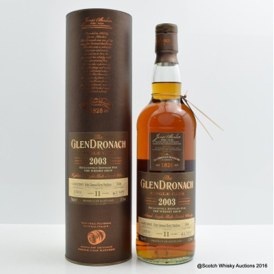 GlenDronach 2003 11 Year Old Single Cask #3568 The Whisky Shop Exclusive