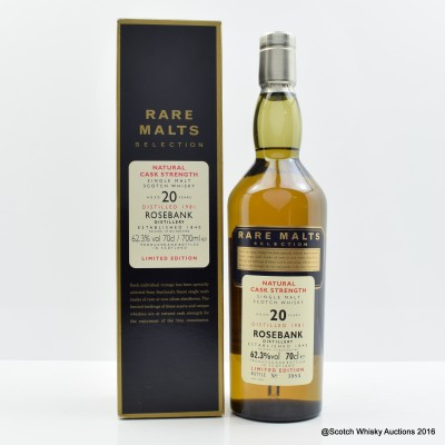 Rare Malts Rosebank 1981 20 Year Old