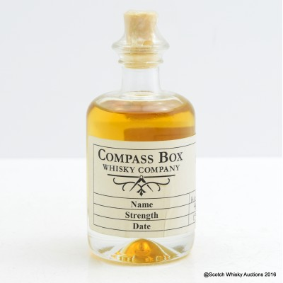 Compass Box Hedonism 10th Anniversary Sample