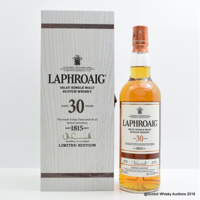 Laphroaig 30 Year Old 2016 Release