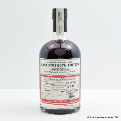 Glenallachie 1990 16 Year Old Chivas Brothers Cask Strength Edition 50cl