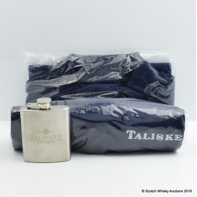 Talisker Polo Shirt & Hip Flask
