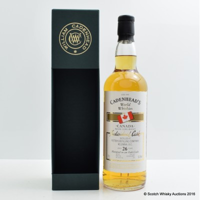 Potter Indian Corn Whisky 26 Year Old Cadenhead's