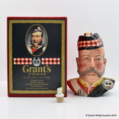 Grant's 25 Year Old Ceramic Character Jug Sword Handle 75cl