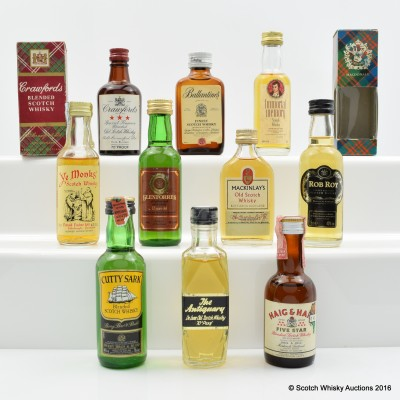 Assorted Minis 10 x 5cl Including Ballantine's Finest 5cl