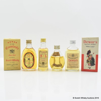 Assorted Minis 4 x 5cl Including Crawford's 5 Star Mini