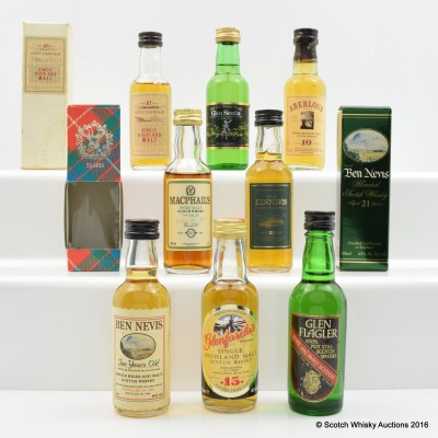 Assorted Minis 8 x 5cl Including Aberlour 10 Year Old 5cl