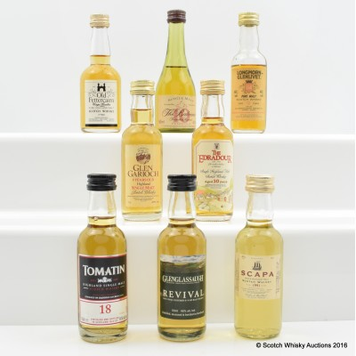 Assorted Minis 8 x 5cl Including Longmorn-Glenlivet 12 Year Old 5cl
