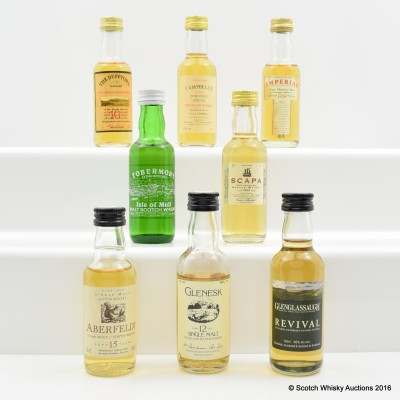 Assorted Minis 8 x 5cl Including Imperial 1979 G&M 5cl