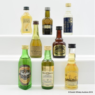 Assorted Minis 8 x 5cl Including Chivas Century of Malts 5cl