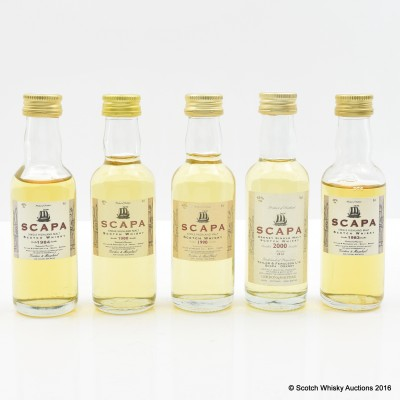 Assorted Scapa Minis 5 x 5cl Including Scapa 1983 G&M 5cl