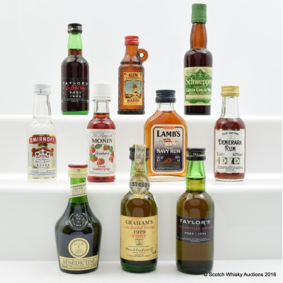 Assorted Minis 10 x 5cl Including Taylor's 1992 LBV Port 5cl