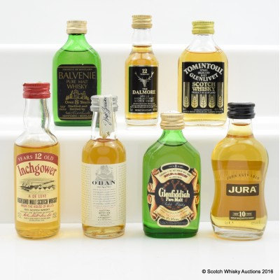 Assorted Minis 7 x 5cl Including Balvenie 8 Year Old Pure Malt