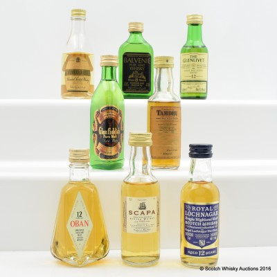 Assorted Minis 8 x 5cl Including Oban 12 Year Old 5cl