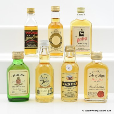 Assorted Minis 7 x 5cl Including Isle of Skye 18 Year Old 5cl