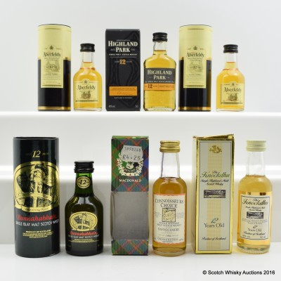 Assorted Minis 6 x 5cl Including Highland Park 12 Year Old 5cl