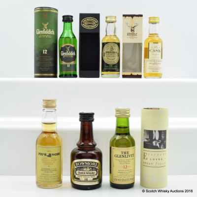 Assorted Minis 6 x 5cl Including Glenfiddich 12 Year Old 5cl