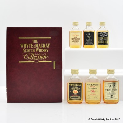 Whyte & Mackay Mini Selection 6 x 5cl