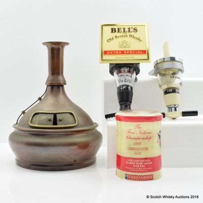 Pot Still Candlestick, Glass & Two Optics