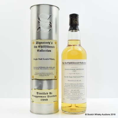 Cragganmore 1989 13 Year Old Signatory