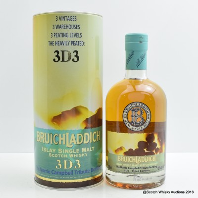 Bruichladdich 3D3 Norrie Campbell Tribute Third Edition